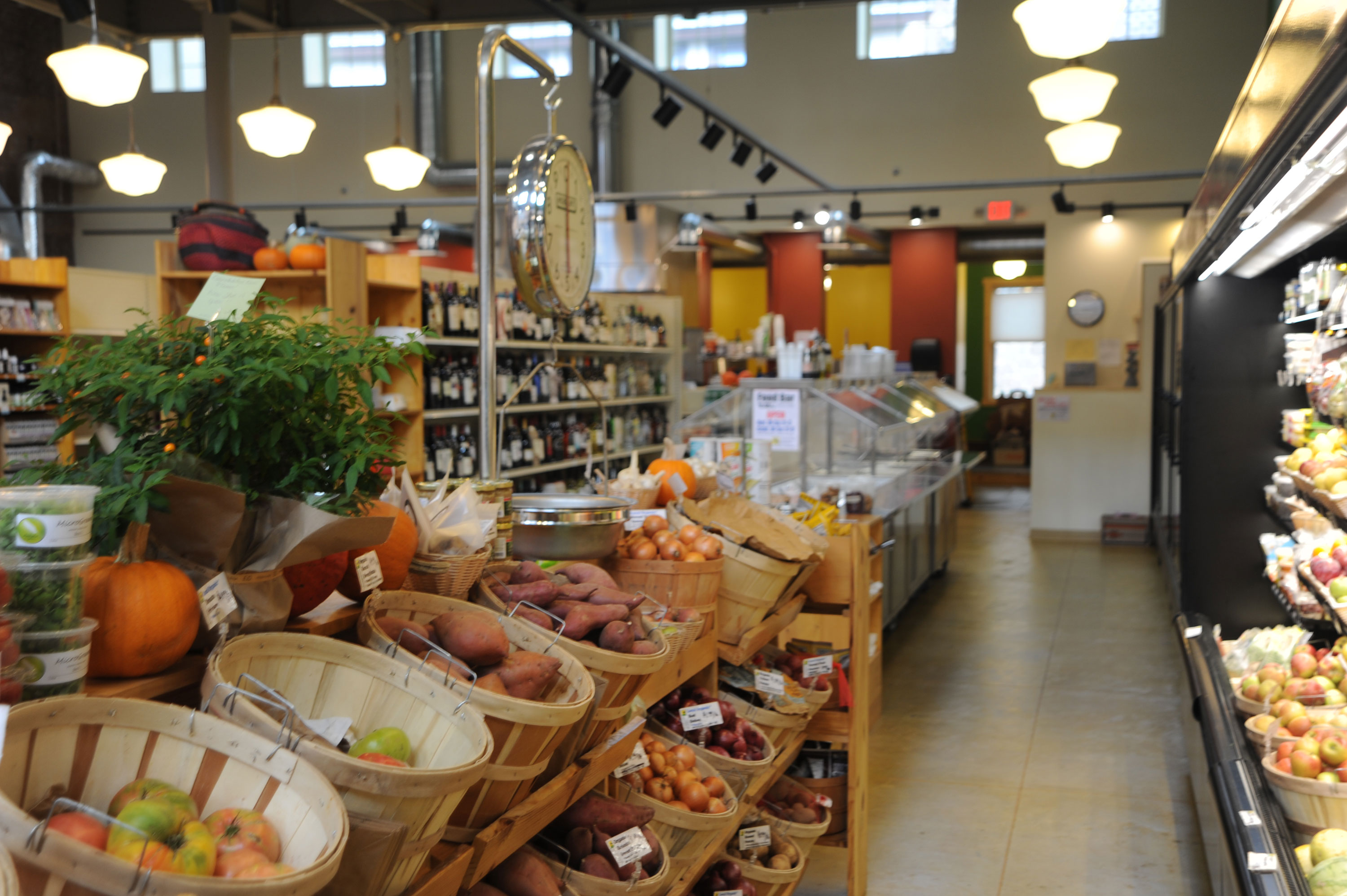 interior of downtown grocery