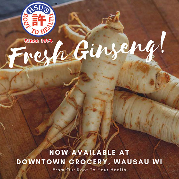 fresh ginseng now available at downtown grocery