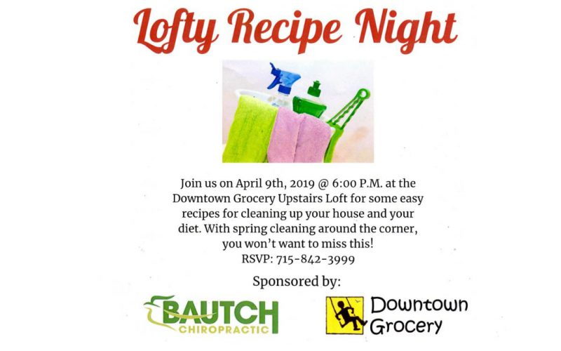 Lofty Recipe Night Tues 4-9-19