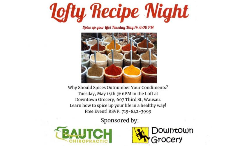 Lofty Recipe Night Tuesday 5-14-19