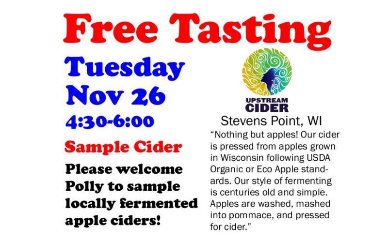 Free Tasting Tuesday 11-26-19