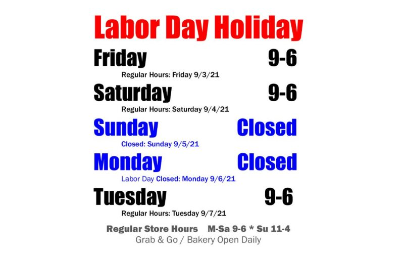 Labor Day Store Hours